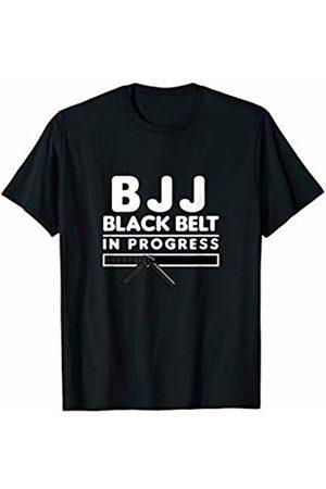 MMA BJJ Gift Shop Men T-shirts - Funny BJJ Black Belt in Progress Brazilian Jiu Jitsu Gi Gift T-Shirt