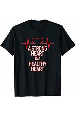 Mukuwa sports A Strong Heart Is An Healthy Heart Fitness T-Shirt