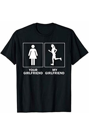 Long Distance Attire Mens Funny Running Gift For Boyfriend Your Runner Girlfriend T-Shirt