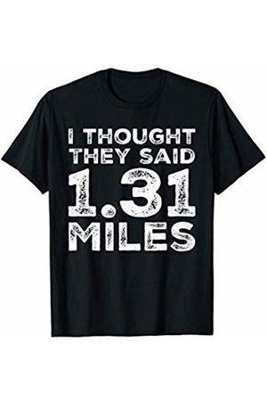 BW Running Tops Running Funny 13.1 Half Marathon Race Runner T-Shirt