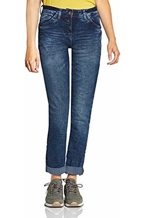 Cecil Women's 372398 Scarlett Loose Fit Straight Jeans, (Mid Wash 10284)