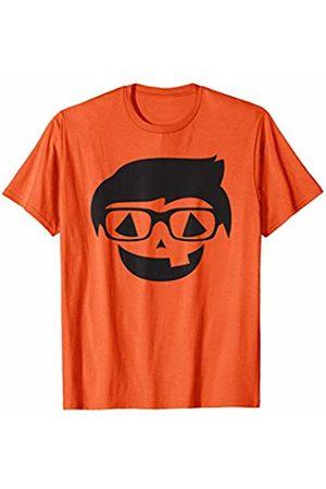 BullQuack Halloween Halloween Nerd Glasses Pumpkin Holiday Silhouette Image T-Shirt