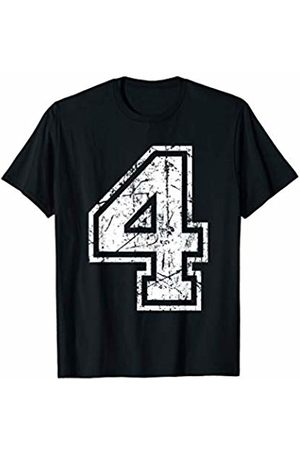 Sports Jersey Number Apparel Sports Jersey Grunge Number 4 Fan Team Player Birthday Gift T-Shirt