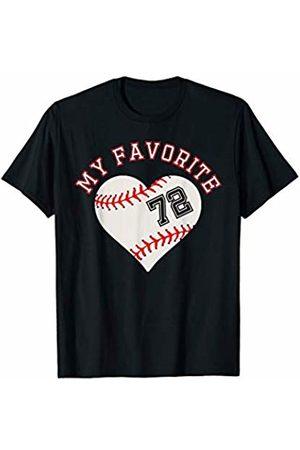 Baseball Player My Favorite Star Fan Shirt Gifts Baseball Player 72 Jersey Outfit No #72 Sports Fan Gift T-Shirt