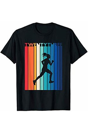 Shirtbooth: Running Birthday Shirts 23rd Birthday Gift Vintage Running Shirt for 23 Year Old T-Shirt