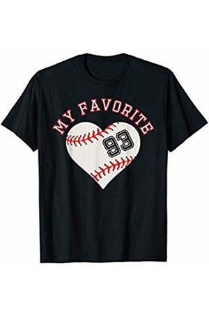 Baseball Player My Favorite Star Fan Shirt Gifts Baseball Player 93 Jersey Outfit No #93 Sports Fan Gift T-Shirt
