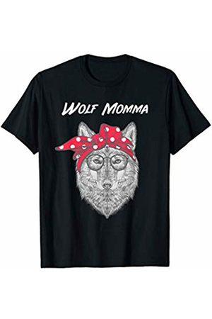 WolfRocks Wolf Momma with Red Bandana T-Shirt