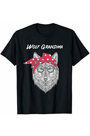 WolfRocks Wolf Grandma with Red Bandana T-Shirt