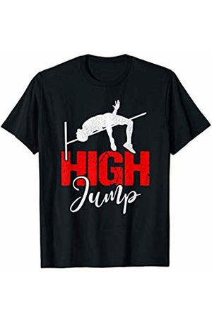High Jump Sport Atlethe Designs Co. High Jump Jumping Over The Bar Atlethic Sport T-Shirt