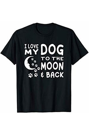 Goodtogotees I love my dog to the moon and back T-Shirt