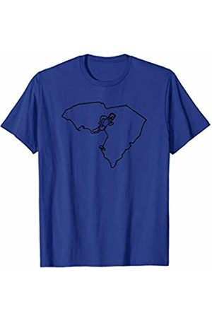 Wesean Runner State of South Carolina Outline with Runner ABN384a T-Shirt