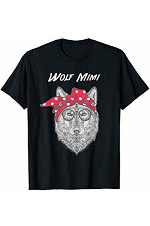 WolfRocks Wolf Mimi with Red Bandana T-Shirt