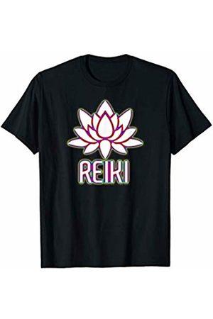 Reiki Art Design Women Co Reiki Lotus Design Yoga Meditation Shirt T-Shirt