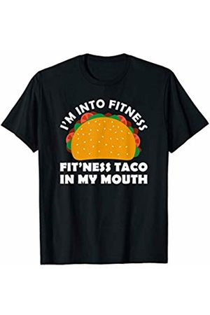 SSAA T-Shirt I'm Into Fitness Fit'ness Taco in My Mouth TShirt Gym Mexico