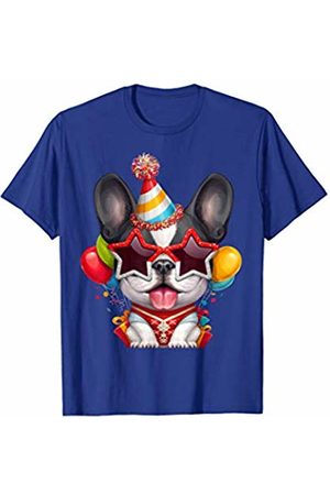 Pardon my Frenchie Black & White Frenchie Pup in Glasses Birthday Party T-Shirt
