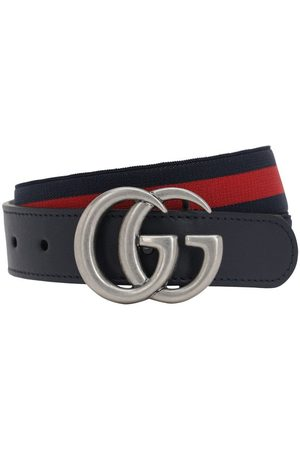 Gucci Elastic Belt W/ Leather Details