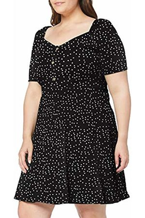 Dorothy Perkins Women's Button Ruched Flipped SPOT Print Dress Party