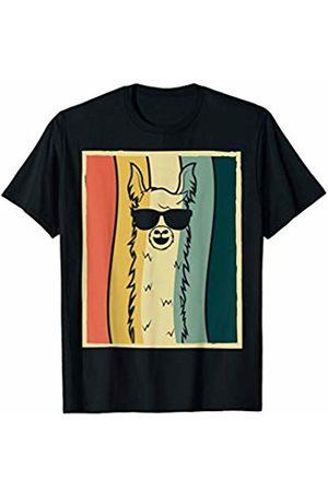 Llamas Are Awesome Tshirt CO. Retro Llama Vintage Alpaca With Glasses T-Shirt