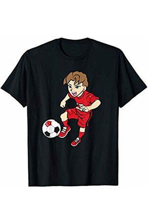 Football Apparel Co. Running Football Player Shirt Turkey Flag Jersey Adult Kids T-Shirt