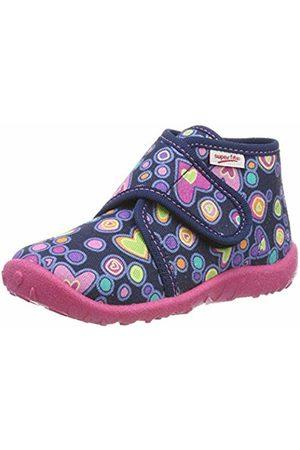Superfit Girls' Spotty Hi-Top Slippers