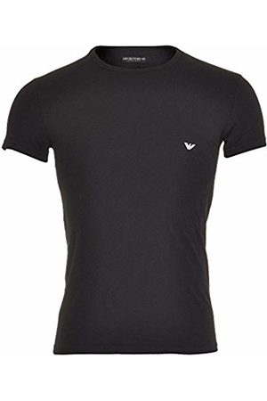 Emporio Armani Intimates Men's Knit Crew Neck Short Sleeve T - Shirt, (Nero)