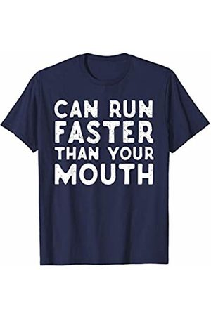 Freshoutlook Funny Running Shirts Can Run Faster Than Your Mouth Funny Running T-Shirt