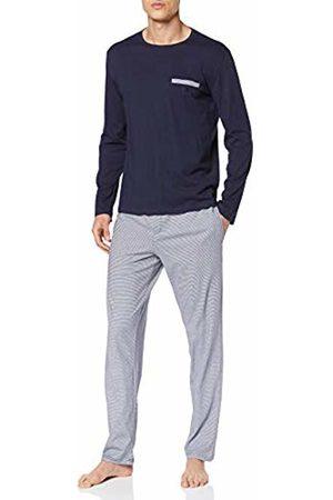 Hom Men's Corsaire Long Sleepwear Pyjama Set, (Haut, Bas: Rayure Marine Et Blanche 00ra)