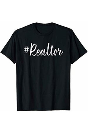 Rock the Realtor Life Clothing Store Hashtag Realtor Real Estate Agent Business Gifts Funny Quote T-Shirt