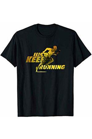 Marathon Runner Tees Just Keep Running - Marathon Runner - Graphic Workout T-Shirt