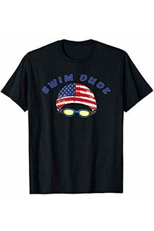 Merch Whiz Swim Goggles Men Women Sports USA Flag Swim Swimmer Funny Swimming Goggles Cap Sports Shirt T-Shirt