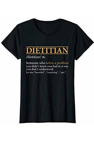 BBP Designs Womens Funny DIETITIAN definition Birthday or Christmas Gift T-Shirt