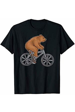So Cool Designs Bear On A Bike Funny Fitness Shirt for Biking Bear Lovers T-Shirt
