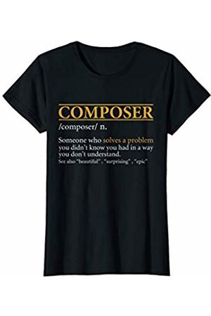 BBP Designs Womens Funny COMPOSER definition Birthday or Christmas Gift T-Shirt