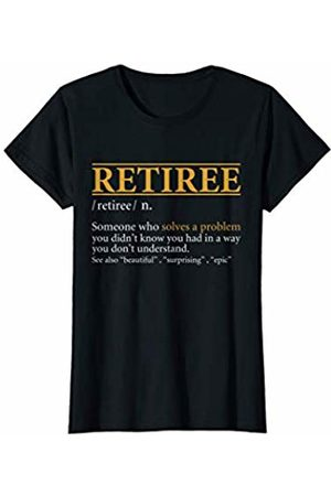 BBP Designs Womens Funny RETIREE definition Birthday or Christmas Gift T-Shirt