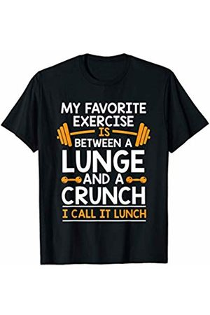 2Tees Gymer Funny My Favorite Exercise Is Between Lunge & A Crunch Gym T-Shirt