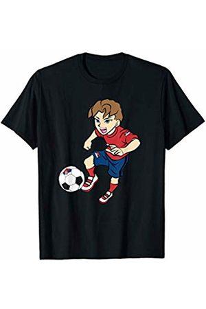 Football Apparel Co. Running Football Player Shirt Serbia Flag Jersey Adult Kids T-Shirt