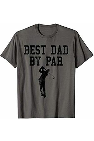 Funny Golf Dad Gifts Mens Vintage Best Dad By Par Golf lovers T-Shirt