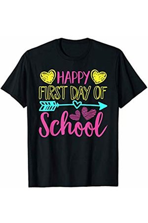 Merchalize Hello Happy First Day Of Back To School Teacher Student Gift T-Shirt
