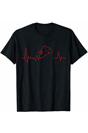 ECG super sports wheelie shirts Motorcycle Heartbeat Wheelie Shirt Superbike Sport Bike T-Shirt