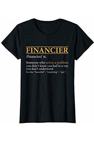 BBP Designs Womens Funny FINANCIER definition Birthday or Christmas Gift T-Shirt