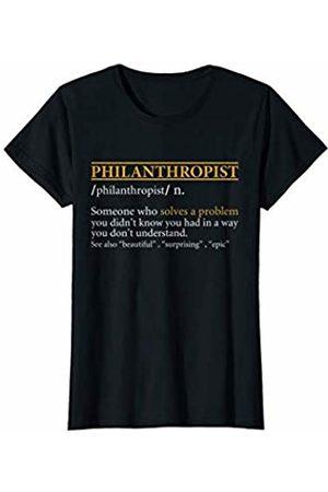 BBP Designs Womens Funny PHILANTHROPIST definition Birthday or Christmas Gift T-Shirt
