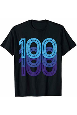 Lucky Birthday Plus Sports Numbers Co. 100th Birthday Lucky Number 100 Sports Team Birth Age Year T-Shirt