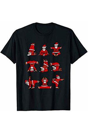 Christmas Yoga Designs Santa's Yoga Positions Funny Christmas T-Shirt