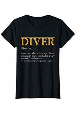 BBP Designs Womens Funny DIVER definition Birthday or Christmas Gift T-Shirt