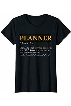 BBP Designs Womens Funny PLANNER definition Birthday or Christmas Gift T-Shirt