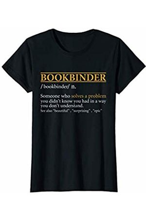 BBP Designs Womens Funny BOOKBINDER definition Birthday or Christmas Gift T-Shirt