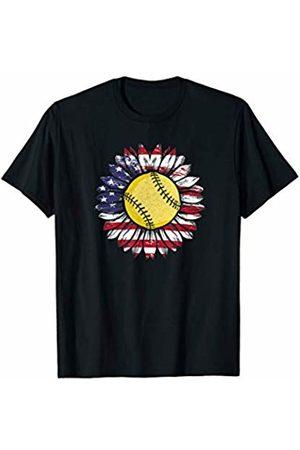 Tropique Softball Gift Apparel Softball Sunflower! Sports Gift T-Shirt