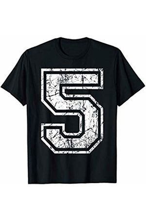 Sports Jersey Number Apparel Sports Jersey Grunge Number 5 Fan Team Player Birthday Gift T-Shirt