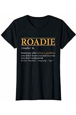BBP Designs Womens Funny ROADIE definition Birthday or Christmas Gift T-Shirt