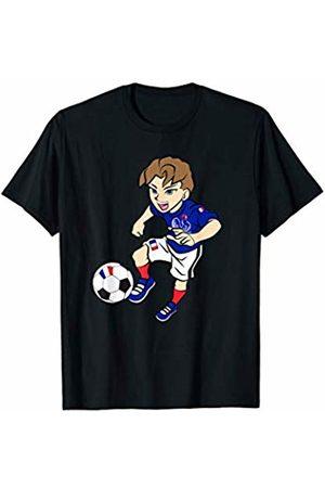 Football Apparel Co. Running Football Player Shirt France Flag Jersey Adult Kids T-Shirt